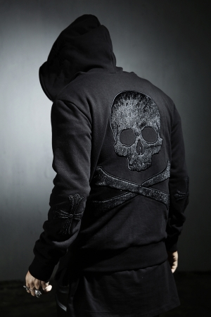 ByTheR Back Skull Hoodie