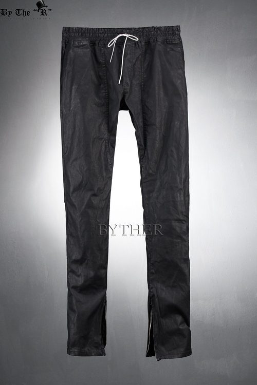 Coated Black Ankle Pants