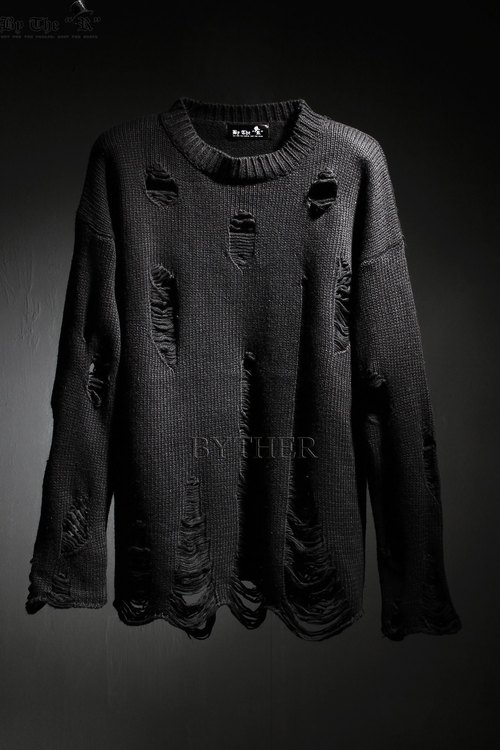 ByTheR Damaged Knit Shirts